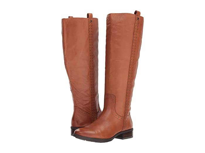 Vintage Boots- Buy Winter Retro Boots Sam Edelman Prina Wide Calf Leather Tall Boot Whiskey Neymar Leather Womens Shoes $88.20 AT vintagedancer.com