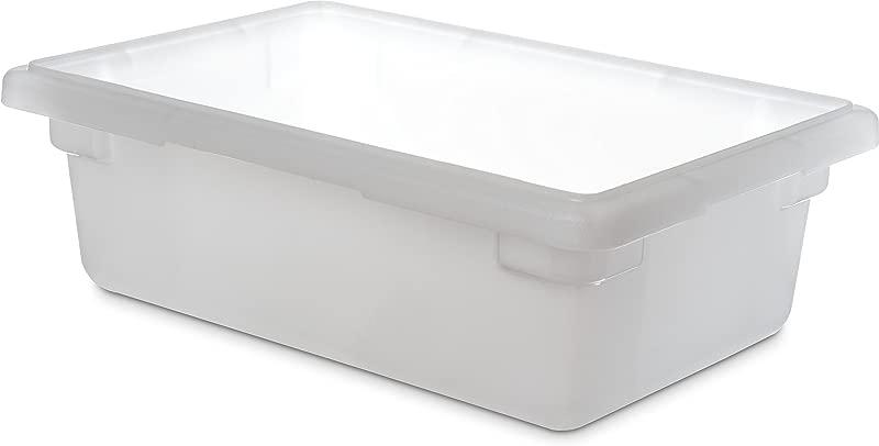Carlisle 1063102 StorPlus Polyethylene Food Storage Box 3 5 Gallon Capacity White Case Of 6