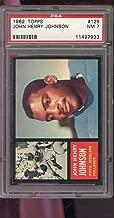1962 Topps #129 John Henry Johnson Steelers NM PSA 7 Graded Football Card NFL