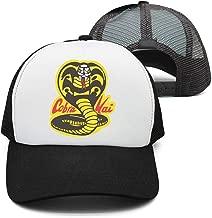 Man Black Cobra Head Logo Baseball Cap Trucker hat