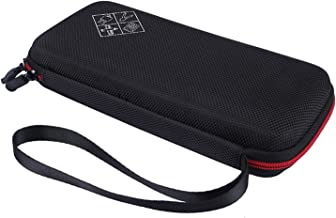 Xberstar Case for Texas Instruments TI-84 TI-83 Plus CE Graphing Calculators and More - Hard EVA Travel Carrying Shockproof Storage Bag (Black with red Zipper)
