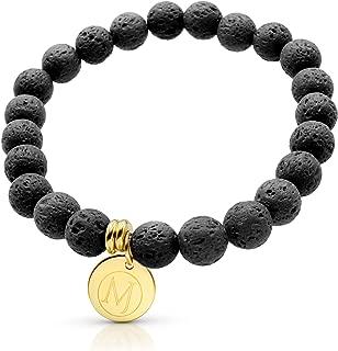 Essential Oil Bracelet, Anxiety Bracelet, Aromatherapy Bracelet, Lava Stone Bracelet, Essential Oil Diffuser Bracelet for Anxiety & Bracelet for Men & Women and Mens Bracelet