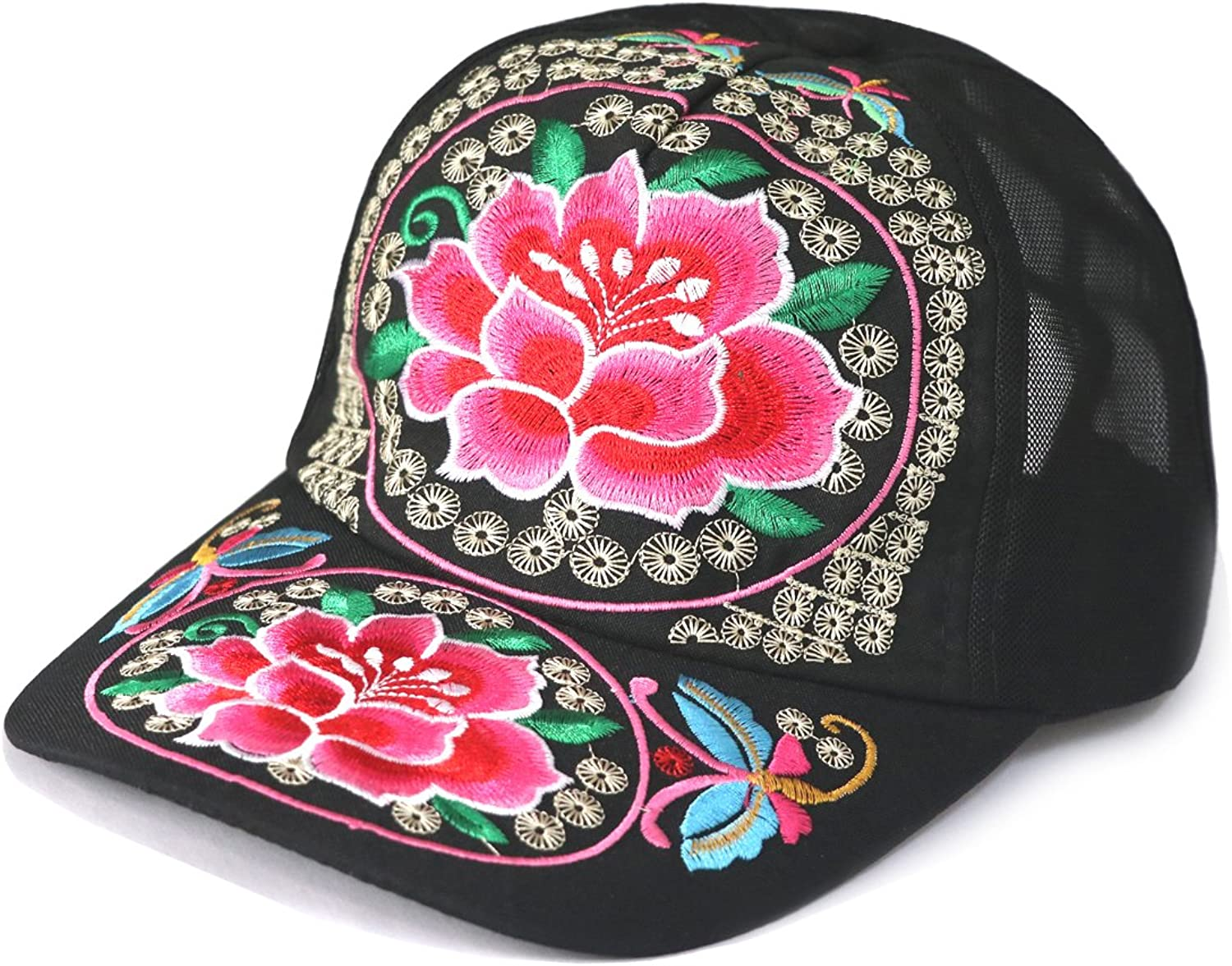 Acheers Vintage Embroidered Adjusable Travel Leisure Baseball Cap Summer Style Fashion Hat Multiple colors