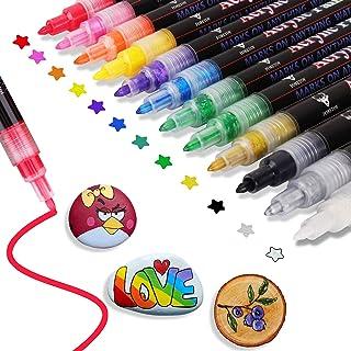 Acrylstiften 12 Kleuren Watervaste Acrylstiften voor Het Schilderen van Stenen Permanente Markeerstiften Stiften voor Kind...