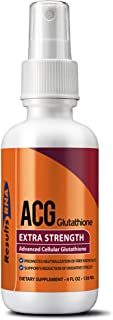 Results RNA ACG Glutathione Extra Strength 4 | Ultimate Source Of Antioxidant - Minimize Stress, Optimizing Health and Athletic Performance - 4 Ounce