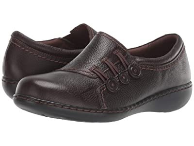 Clarks Ashland Effie (Dark Brown Tumbled Leather) Women