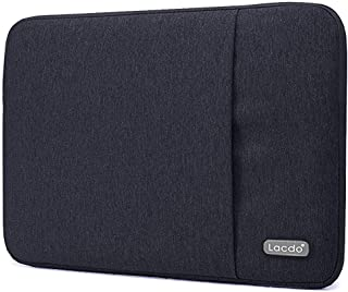 Lacdo 12.9 inch Laptop Sleeve Case Compatible 13 Inch New MacBook Pro Touch Bar A1989 A1706 A1708 | 2018 MacBook Air Retina Display A1932 | XPS 13 | Water Repellent USB-C Notebook Bag, Black