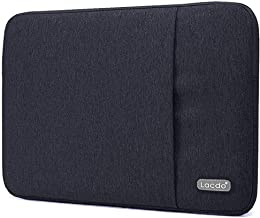 Lacdo 11-11.6 Inch Water Resistant Laptop Sleeve Case Compatible 12 Inch New MacBook with Retina Display | MacBook Air 11.6 | Surface Pro 5, 4, 3 | Acer HP Samsung Chromebook Tablet Bag, Black