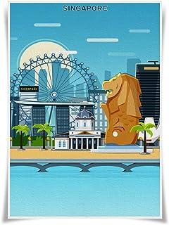 Nice Captain Travel Posters Famous Tourist Sites Prints A3 Size Wall Art Home Decor (Singapore)