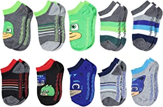 PJ Masks Boys No Show Socks - PJ MASKS Catboy, Owlette & Gekko - Kids 10-Pair Set
