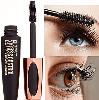 4D Silk Fiber Lash Mascara Waterproof Luxuriously Longer Thicker Voluminous Eyelashes Long-Lasting Dramatic Extension Smud...