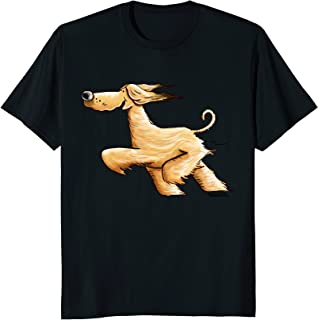 Awesome Running Afghan Hound T-Shirt For Women Men Kids