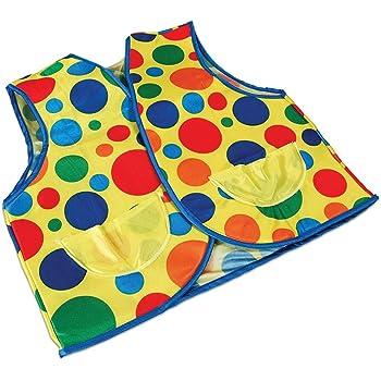Adults Clown Waistcoat Vest Style Spotty Circus Polka Dot Fancy Dress Top