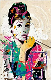 Retro Abstract Jigsaw Puzzle - Audrey Hepburn - Multi-Colored - Gift Home Decor(300/500/1000 Pieces ) Puzzle0HW ( Size : 1...