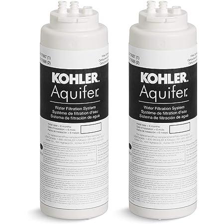 KOHLER K-77688-NA Aquifer Replacement Filter Cartridge (2 Pack)
