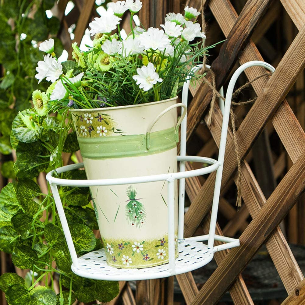 Hanging Denver Mall Railing Planter Baskets Flower We OFFer at cheap prices Pot Po Hanger Iron Holder