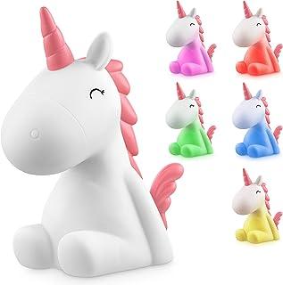 Sweet Ponies Luz Nocturna Infantil LED Unicornio con la Batería Recargable, Quitamiedos para Niños