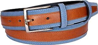 ESPERANTO Cintura scamosciato e cuoio fodera vera pelle taglia regolabile 35 mm