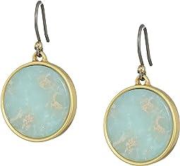 Jasper Circle Earrings