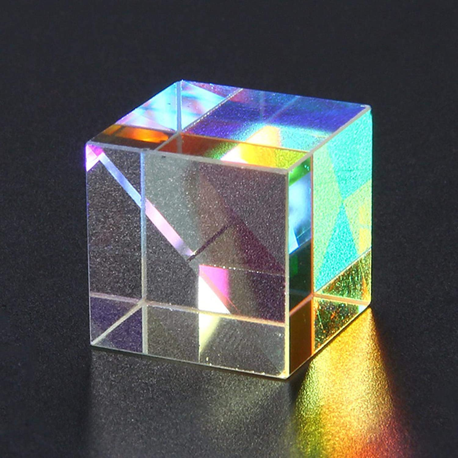 Optical Glass Prism VVIA 2PC CMY Optic Prism Cube RGB Dispersion Six-Sided Bright Light Combine Cube for Physic,Puzzle Cube For Kids Boys Toddler A