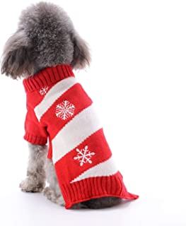 PETCARE Dog Snow Sweaters Christmas Snowman Red Puppy Winter Warm Holiday Festival Party Clothes Knit Wear Outfit Costume Small Medium Large Pet