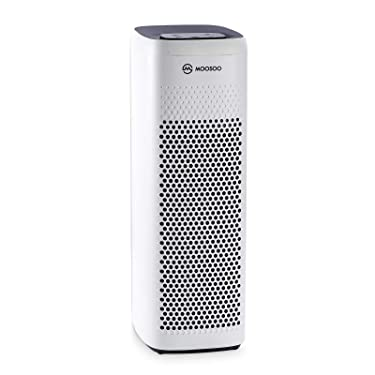 MOOSOO HEPA Air Purifier for Home Air Purifier with H13 HEPA Filter for Bedroom Pet Hair Dander Pollen Smoke Dust Airborne Contaminants Odors Home Air Purifier AC24