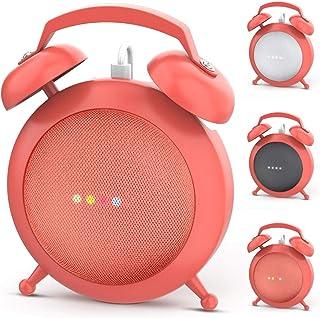 Google Home Mini Stand Holder, Retro Alarm Clock Stand Mount Base Protective Case Compatible with Google Home Mini and Nest Mini(Orange)