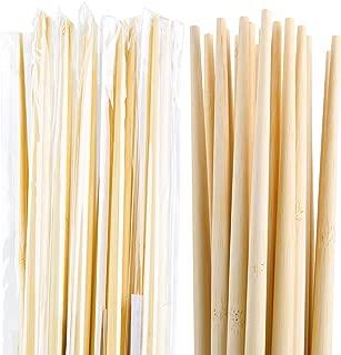 Individually wrapped 10 Pairs 18 Inches Long Natural Eco Friendly Bamboo Chopsticks Long cooking Bamboo Sticks and Chopsticks for Cooking