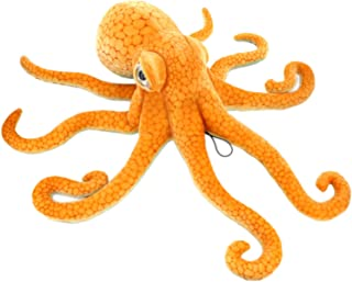 JESONN Giant Realistic Stuffed Marine Animals Soft Plush Toy Octopus Orange (33.5 Inch)
