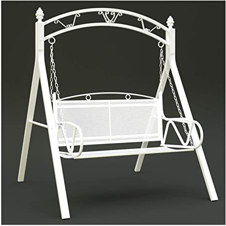 WANGQW Outdoor Patio Furniture Swing Glider with Stand, Outdoor Swing Chairs for Adults, Garden Swing Outdoor Swing Chair Bench Outdoor Porch Garden and Poolside Swing, Porch Swing