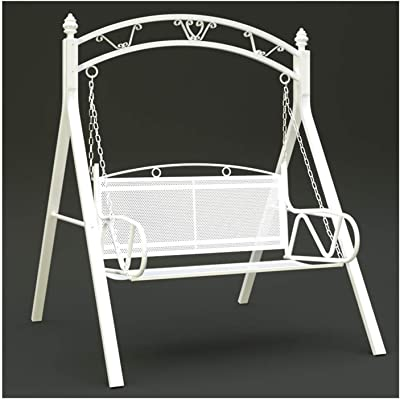 LLNN Patio Swing Porch Glider Hammock Hang Bench Chair, Outdoor Swing Chairs for Adults, Garden Swing Outdoor Swing Chair Bench Outdoor Porch Garden and Poolside Swing