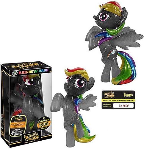 Glitter schwarz Rainbow Dash Hikari Sofubi Figure by Hikari
