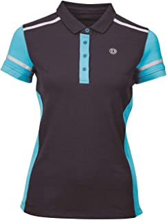 Dublin Madison Polo Shirt Womens Navy Top T-Shirt Horse Riding Activewear