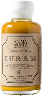 Anima Mundi Curam Organic Beauty Elixir - Powerful Vitamin C Rich Skin Detox Blend with Activated Turmeric + Camu Camu for Smoothies, Juices or Teas, Organic + Wildcrafted (4oz / 118ml)