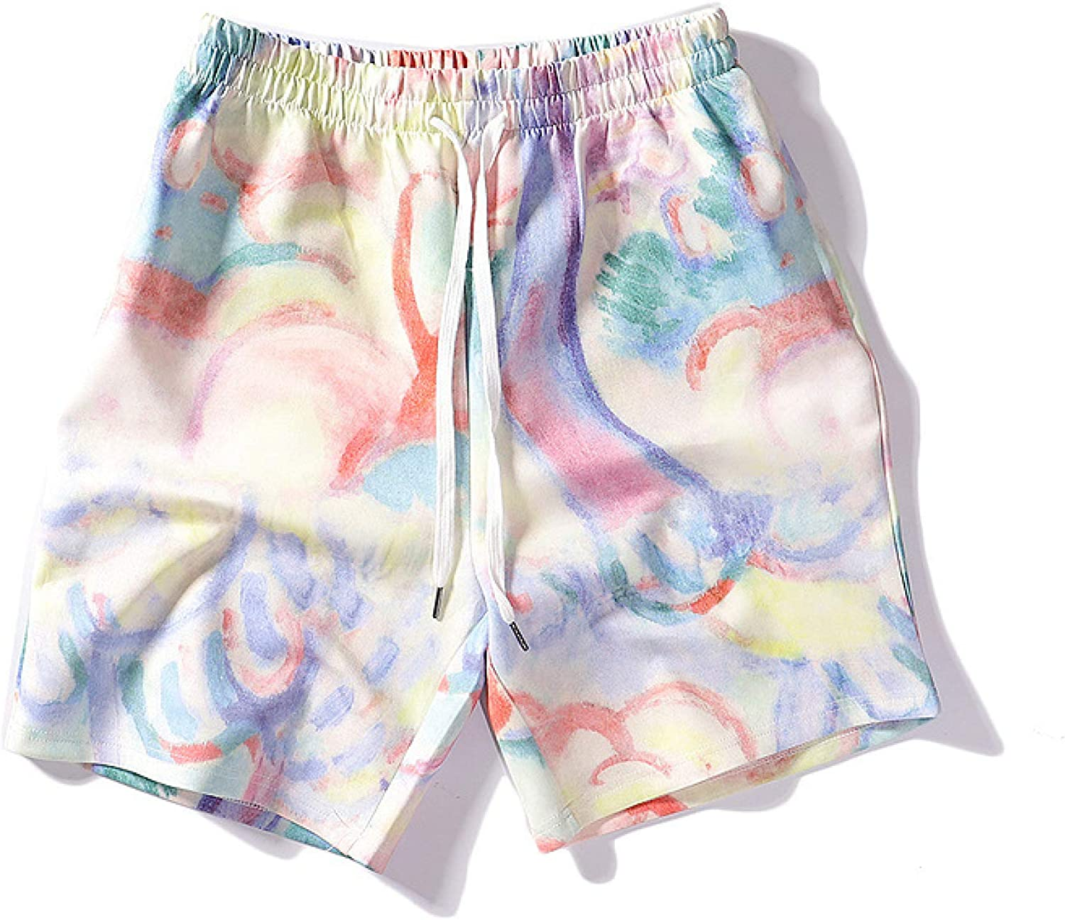 Men's Oil Painting Printed ColorBlocking Harlan 25% OFF Personal Shorts Super sale