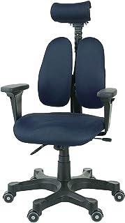 デュオレスト オフィスチェア ブルー 可動肘 メッシュ地 可動ヘッドレスト 腰痛対策 姿勢サポート DR-7501SP 3TBE1
