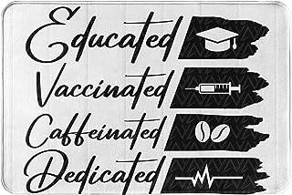 Ojyhgar Educated Vaccinated Door Mat Welcome Mats Outdoor Indoor Absorbs Mud Doormat 23.6 X 15.7 Anti-Slip Durable Entrywa...