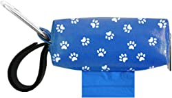 Doggie Walk Bags Square Duffel Paw Print Bag, Blue