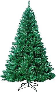 MTOML Árbol de Navidad Verde Artificial de Pino 180cm, para Decoración Navideña, Frondoso con Soporte Metálico, Interior/Exterior