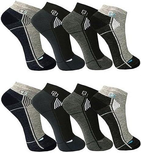 BestSale247 Lot de 12 paires de socquettes de sport/loisirs En coton Tailles 39-42 ou 43-46 Pour homme