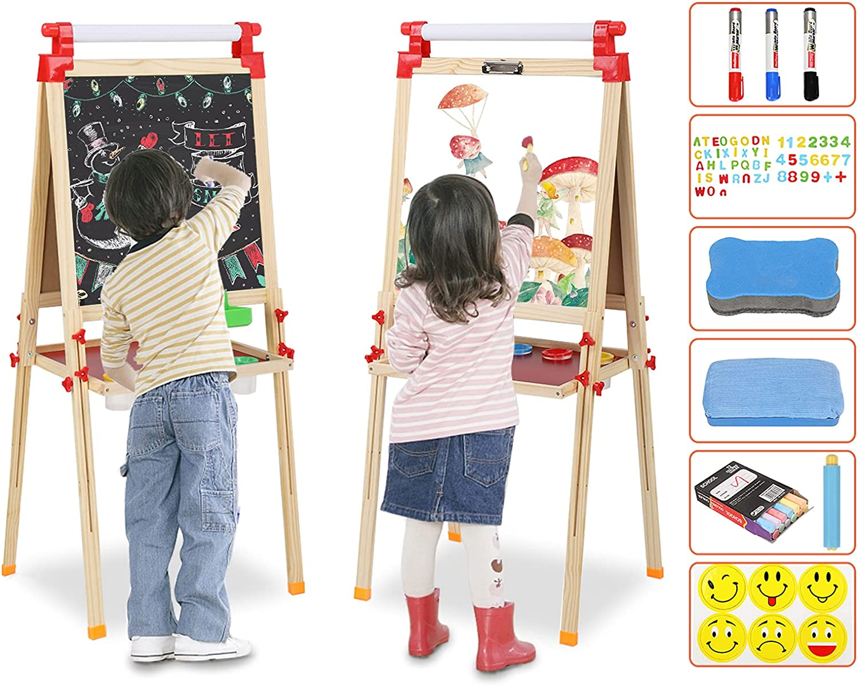 Sinosunplus Reservation Kids Easel Wooden Popular overseas Children M Sided Double Art