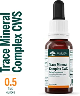 Genestra Brands - Trace Mineral Complex CWS - Supports Thyroid Function and Helps Protect Against Oxidative Stress* - 0.5 fl oz (15 ml)