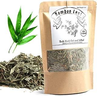 EidolonGreen [China Medicinal Herb] Bamboo leaves tea, Bamboo Tea, Organic Bamboo Leaf Tea, (Herba Lophatheri/DanZhuYe/淡竹叶/댓잎 티백 차) Chinese Herbal Dried Loose Leaves 88g (3 oz)