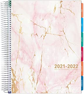 """$25 » Deluxe 2021-2022 Planner: 8.5""""x11"""" Includes Page Tabs, Bookmark, Planning Stickers, Pocket Folder Daily Weekly Monthly Pla..."""