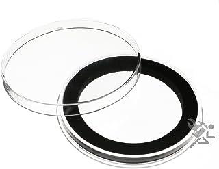 (5) كبسولات حامل للعملات المعدنية الدائرية باللون الأسود إير تايت Y-50 مم لـ 2 بوصة للعملات المعدنية للتحدي العسكري