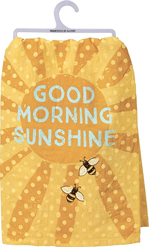 Primitives By Kathy Dish Towel Good Morning Sunshine