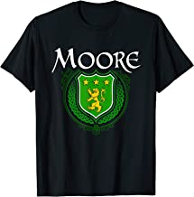 Moore Surname Irish Last Name Moore family crest T-shirt