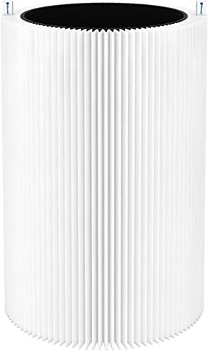 Blueair Blue Pure 411 Genuine Replacement Filter, Particle and Activated Carbon, Fits Blue Pure 411, 411+ & MINI Air ...