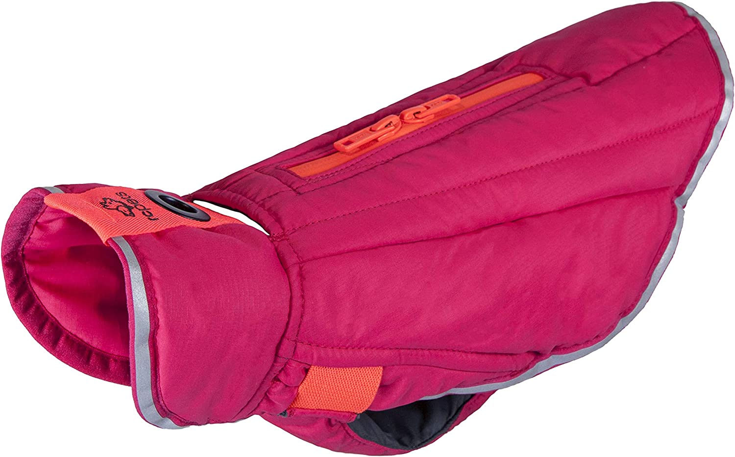 RC Pet Products 67524014 Quilted Nimbus Puffer Dog Coat, Azalea Hot Coral, 24