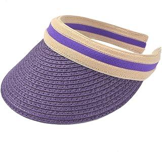 fe4feb1a Women Sun Straw Visor Hat UV Protection Golf Beach Outdoor Sports Summer Cap  V201